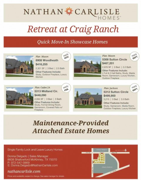 Quick Move-In Showcase Homes by Nathan Carlisle