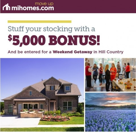 Win a Weekend Getaway on Move-In Ready Homes from M/I Homes