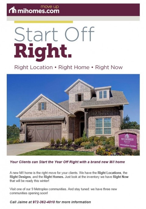 Your Clients can Start the Year Off Right with an M/I Home